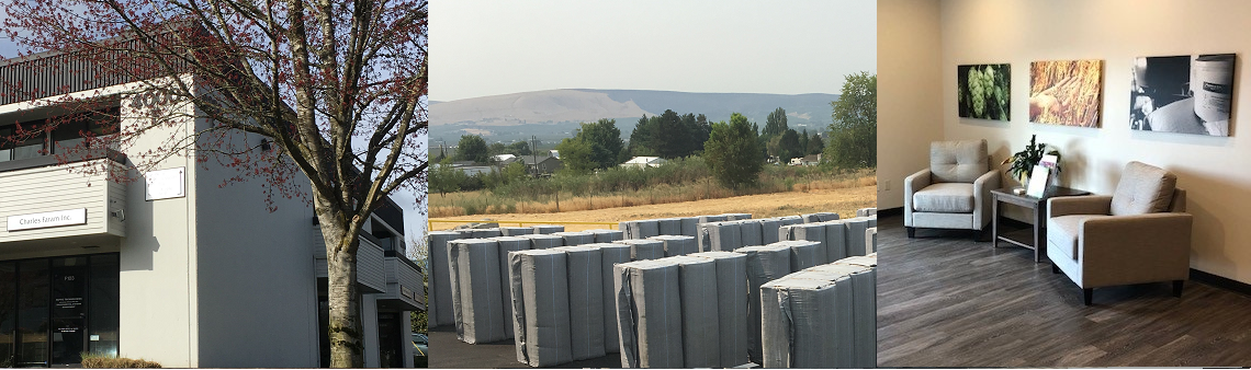 Photos of the Charles Faram hop suppliersPortland and Yakima sites